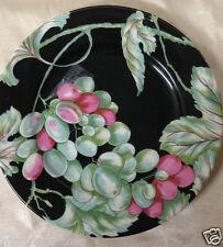 """PHILIPPE DESHOULIERES PATRICK FREY VENDANGES BREAD & BUTTER PLATE 7 1/4"""" BLACK"""