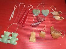 LOT OF 9 PAIRS OF HAND MADE / DIPPED  CANDLES  ANIMAL FORMS DUCKS BEARS CATS CHI