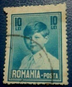 ROMANIA:1928 King Mihai 10L Rare & Collectible Stamp.