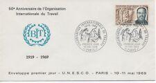 FRANCE 1969.F.D.C.ORGANISATION INTERNATIONALE DU TRAVAIL.OBLIT:LE 10/5/69 PARIS