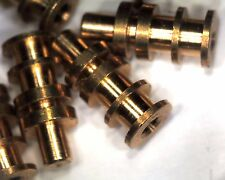 pack of 100 machined brass turret terminals 9mm tall 2mm pcb hole