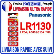 Pile LR1130 AG10 LR54 189 SR1130W 1.5V PANASONIC Alcaline QUALITÉ PREMIUM