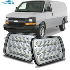 2x LED Headlight Sealed Beam Headlamp for Chevy Express Cargo Van 1500 2500 3500