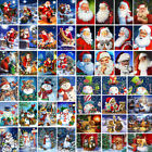 Christmas DIY Paint Oil Painting By Number Kit Santa Claus Snowman Home Decor