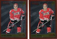 2-daniel briere rc card lot 1995/96 bowman p4 phoenix coyotes