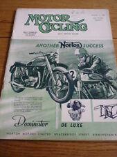 MOTOR CYCLING 11.12.1952 DOUGLAS MK. V R/TEST  jm