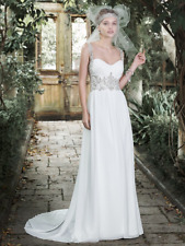 Maggie Sottero wedding Gown JEANETTE Size 14 Ivory /Silver NEW!!