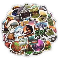 50 Camping Stickers Bomb Lot Pack Outdoors Hunting Summer Camp Laptop Crafts