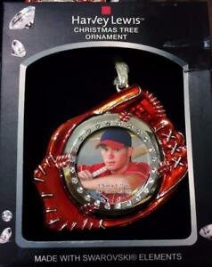 Christmas Tree Ornament Harvey Lewis Baseball Glove Photo Picture Frame NEW