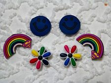 Croc Clog Rainbow Flowers Happy Fac Shoe Charms Will Also Fit Jibitz,Croc  C 620