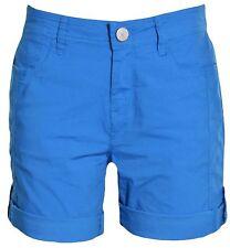 DKNY Jeans Women's Casual Walking Roll Tab Stretch Shorts  Blue  Sz 8