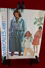 McCall's 4981 Size 12 Clothing Pattern