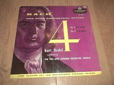 BACH ~ THE 4 ORCHESTRAL SUITES KURT REDEL 2 X VINYL LP LONDON DUCRETET THOMSON