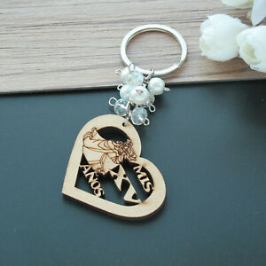 12Pcs Sweet 15 Wood Design Keychain Quinceañera Recuerdos Favors for Girl