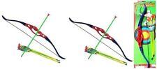 2 x World Warriors Archery Bow And Arrow Set Kids Children Garden Outdoor Toy