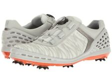 ECCO 2017 Mens Cage EVO Boa Spiked Golf Shoes NEW Wh/Fire 11-11.5 45EU $220