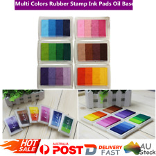 6pcs Rubber Stamp Ink Pads Oil Based Paper Wood Craft Fabric DIY Scrapbooking