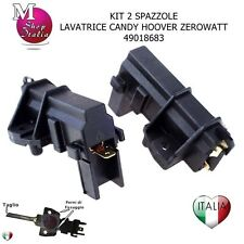 2 Spazzole Carboncini motore Lavatrice Candy Hoover Zerowatt 49018683 ORIGINAL