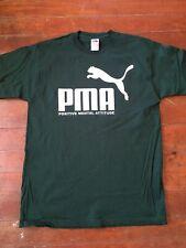PUMA PMA Positive Mental Attitude Slogan mock GREEN shirt mens size L, XL, 3XL