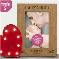 Personalised Baby Photo Frame Engraved Photo Gift for Newborn Baby Boy Girl Gift