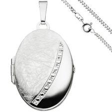 Medaillon oval 2 Fotos 925 Silber + Kette 60 cm Medallion Medaillion Medalion