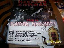 2004 MC Brain Damage Maiden Madness Tour Autographed Poster