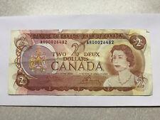 1974 Canada 2 Dollar Note VG+ #8503