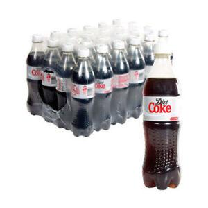 Coca Cola Diet Coke Fizzy Soft Drink No Sugar 24x 500ml Bottles