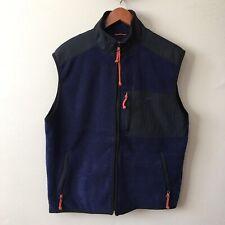 American Eagle AE77 Mens Medium Blue Performance Fleece Vest