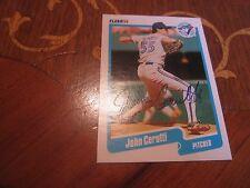 John Cerutti Autographed Baseball Card JSA Auc Certified