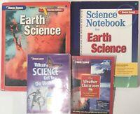 Glencoe Earth Science Curriculum + DVDs Homeschool Middle School Bundle