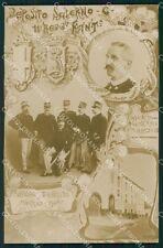 Militari 11º Reggimento Fanteria Salerno Caserma Carrano Foto cartolina XF4421