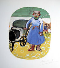 MARC CHAGALL HAND SIGNED * THE COACHMAN * LITHOGRAPH