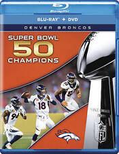 Brand New NFL Super Bowl 50 Champions Denver Broncos Petyon Manning Blu Ray DVD