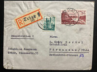 1948 Trier Germany Allied occupation registered Cover To Pirmasens Sc#6N28