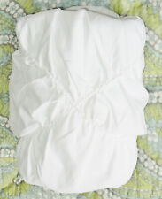 Pottery Barn Teen Textural Diamond Standard Sham Ruched White New