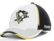 REEBOK MO75Z NHL STRETCH FIT HOCKEY HAT/CAP - PITTSBURGH PENGUINS - SMALL/MED