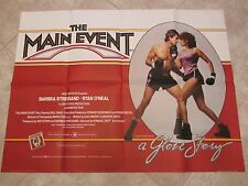 The Main Event movie poster - Barbra Streisand - original uk quad movie poster