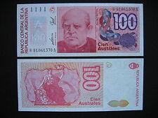 Argentina 100 australes 1985-90 replacement note! (p327r) UNC