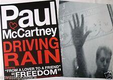 "PAUL McCARTNEY ""DRIVING RAIN - FREEDOM"" 2-SIDED U.S. PROMO POSTER - The Beatles"