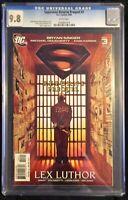 Superman Returns Prequil #3 Lex Luthor CGC Graded 9.8 (DC 2006)