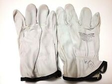 """1 PAIR - LOW VOLTAGE 10"""" LEATHER LINEMAN GLOVES - SIZE 10 - LARGE - USA"""