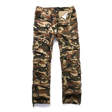 Mens Tactical Cargo Pants Pocket Military Combat Overalls Army Camo Trousers  40 Sand Camouflage 66fb7d1965a