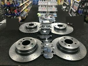 BMW X5 Xdrive F15 M50D SPORT BRAKE DISCS CROSS DRILLED  BRAKE PADS FRONT REAR