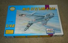1/48 SMER Mikoyan MiG-17 F/LiM 6 bis Czech, Poland, Egypt Markings PARTS SEALED