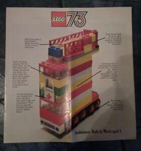 Lego Leaflet 1973 and 1976