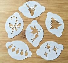 SET of 6 Christmas themed Face Painting stencils wash/reuse for just £8 BARGAIN