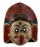 Grande Maschera Nepalese Ganesha Elefante Di Cerimonia Carta IN Tibet 49cm 3931