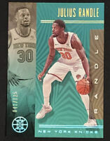2019-20 Panini Illusions Julius Randle RARE TEAL PARALLEL REFRACTOR /125