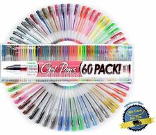 60 UNIQUE Colors Gel Ink Pens New Colors Adult Coloring Pens: Top Quality Pens!